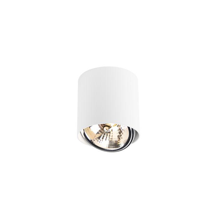 Cylindre-spot-design-blanc-avec-LED---Impact-Up-G9