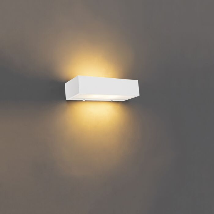 Applique-design-oblongue-blanc-25-cm---Houx