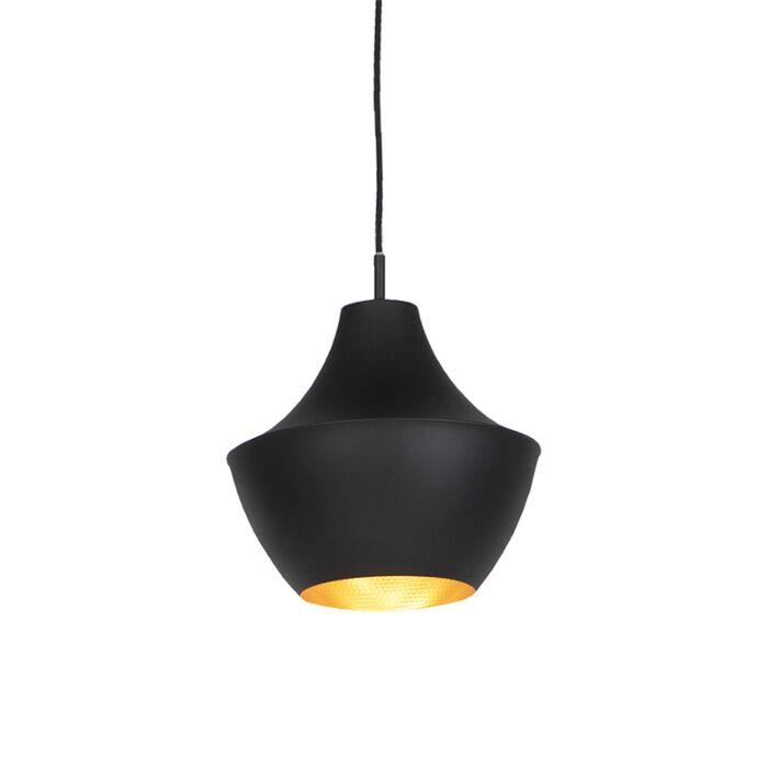 Lampe-à-suspension-scandinave-noire-avec-or---Depeche-Jarred