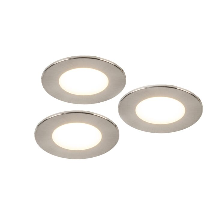 Lot-de-3-spots-encastrés-en-acier-avec-LED-IP65---Simply