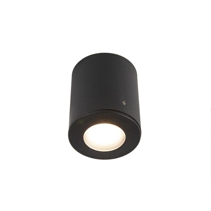 Spot-en-saillie-noir-IP55-incl.1-x-GU10---Franca