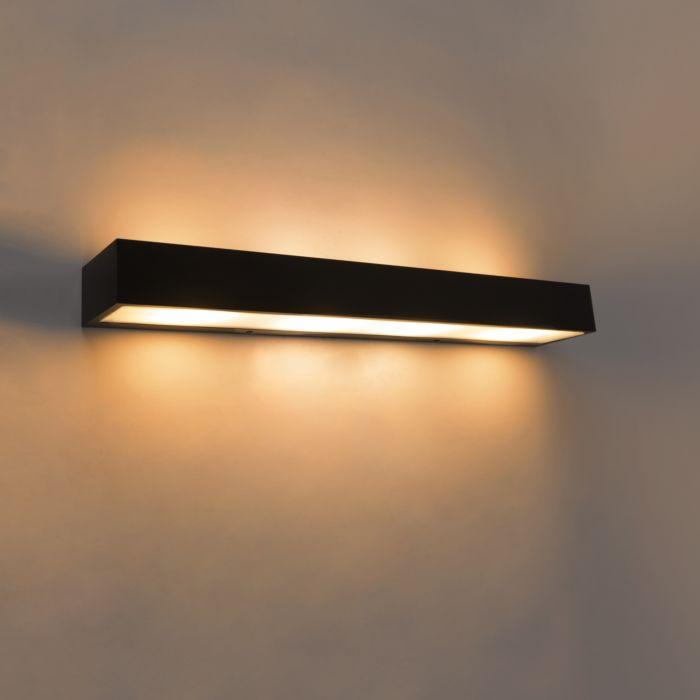 Applique-design-oblongue-noir-60-cm---Houx
