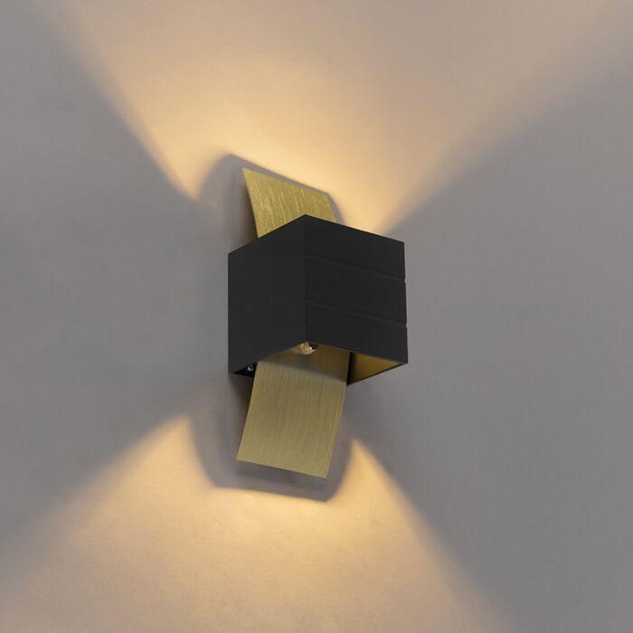 Applique-design-noire-avec-or---Amy