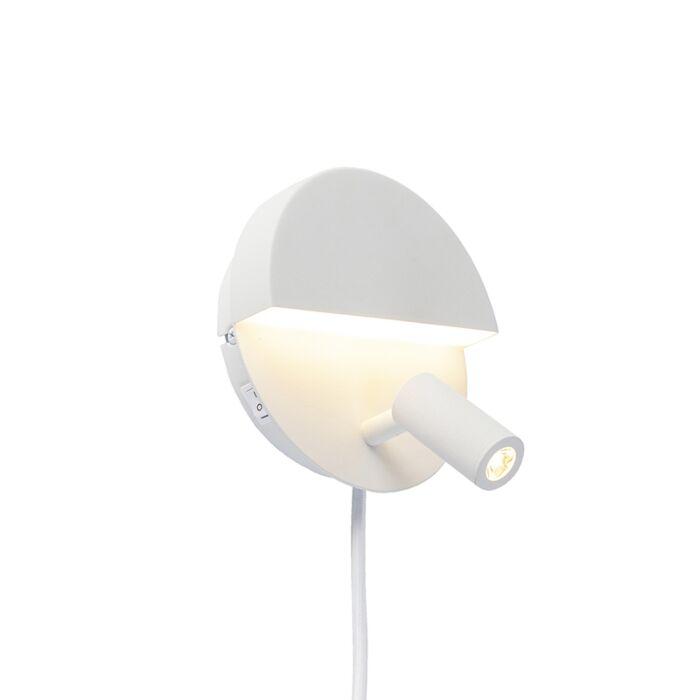 Applique-design-blanche-avec-LED---Marion