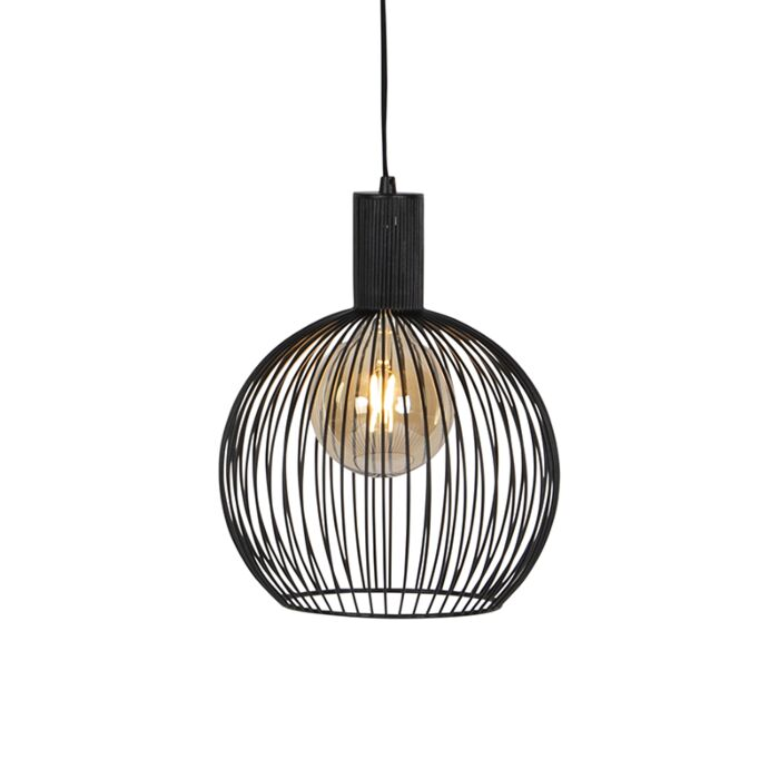 Suspension-contemporaine-ronde-noire-30-cm---Wire
