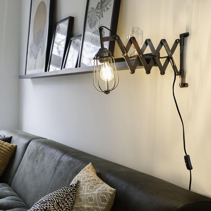 Applique-vintage-extensible-antique-zinc---Scissors-Cage