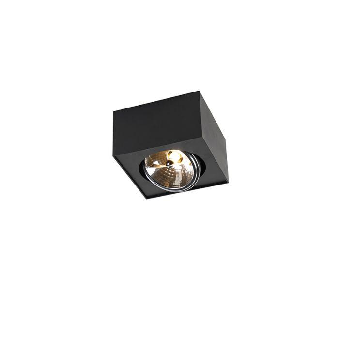 Spot-design-carré-1-lumière-y-compris-G9-noir---Kaya