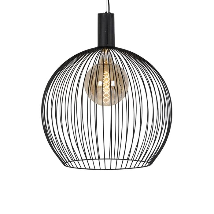 Suspension-moderne-ronde-noire-60-cm---Wire