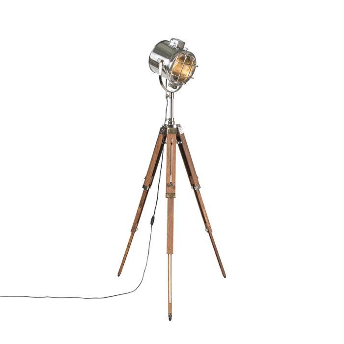 Lampadaire-avec-trépied-en-bois-et-studio---Tripod-Shiny
