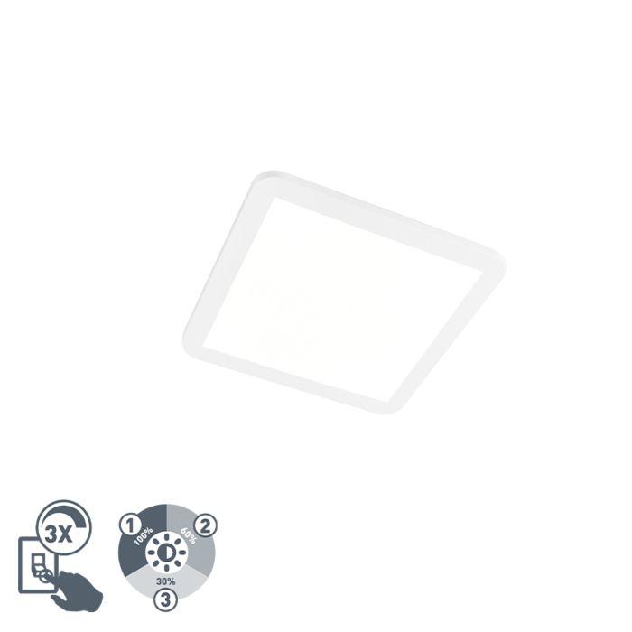 Plafonnier-carré-blanc-30-cm-avec-LED-IP44---Camilla