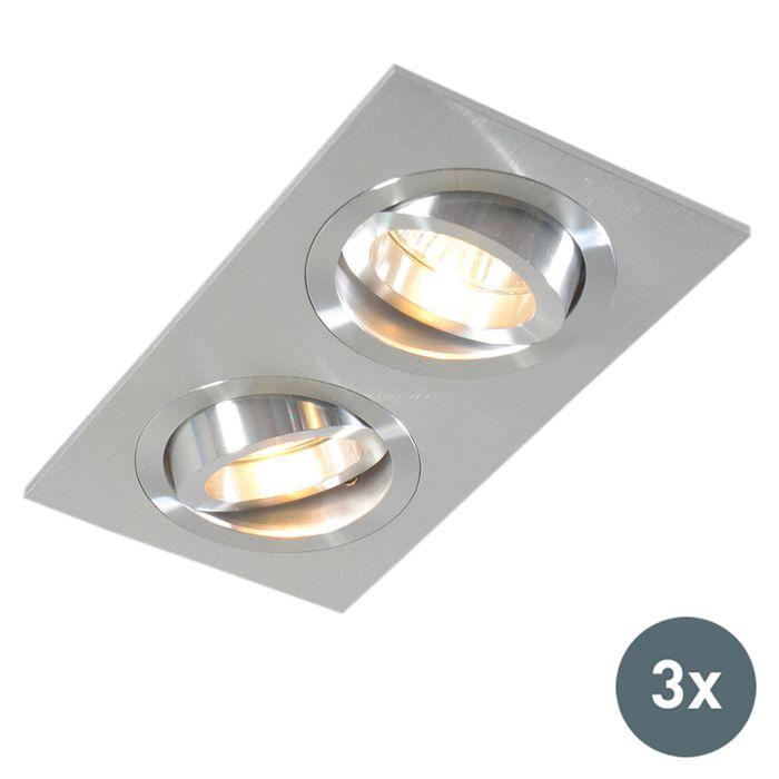 Lot-de-3-spots-encastrés-en-aluminium-inclinable---Lock-2