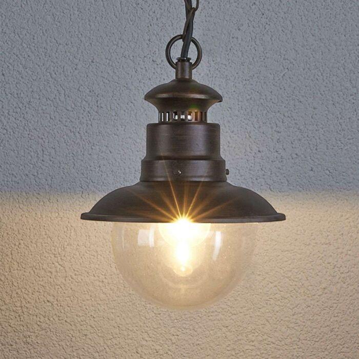 Lampe-suspendue-ronde-industrielle-brun-rouille---Eddie