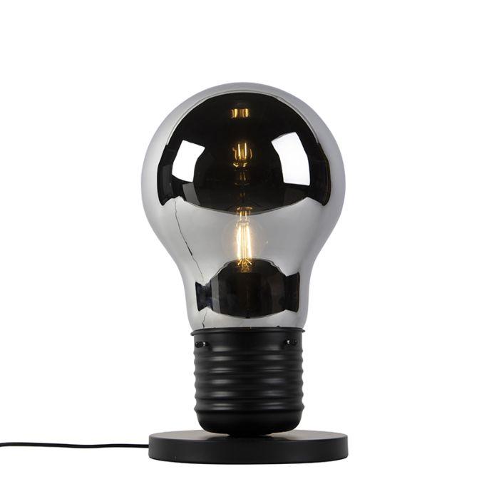 Lampe-de-table-design-noir-avec-verre-fumé---Nigrum