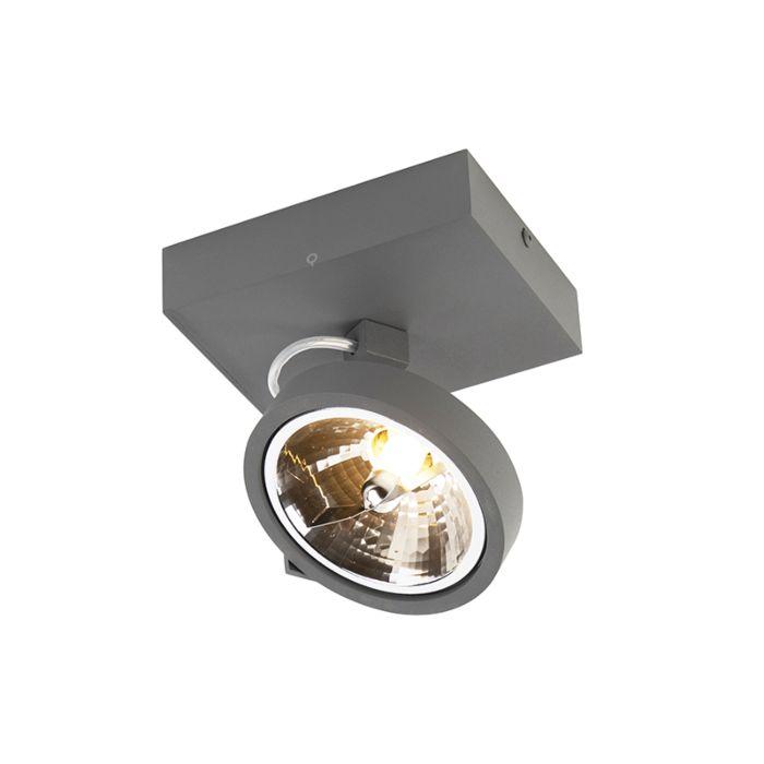 Spot-design-gris-réglable-1-lumière-y-compris-LED---Go