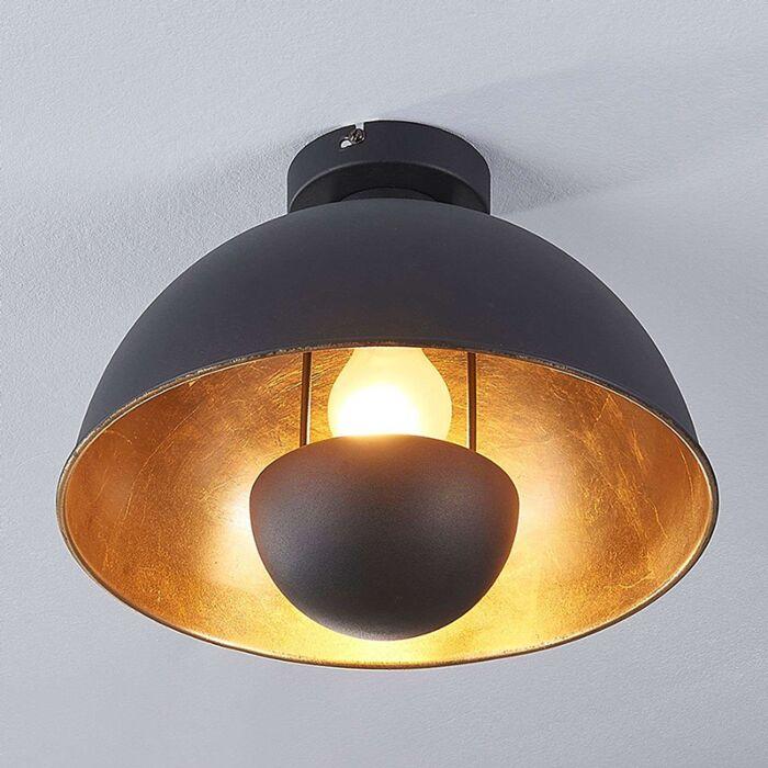 Plafonnier-industriel-noir-avec-or---Magna-Eglip