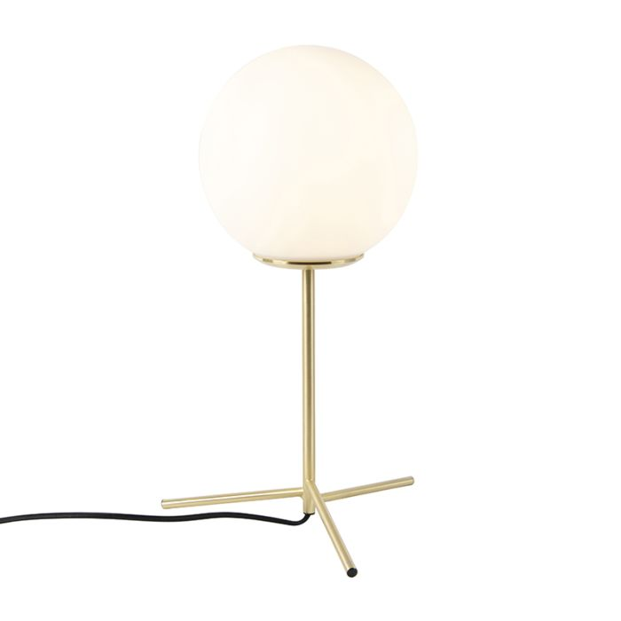 Lampe-de-table-art-déco-en-laiton-avec-verre-opale-45,5-cm---Pallon