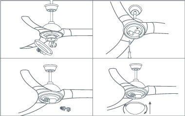 Étape 5. Fixez les lampes et le couvercle de la lampe