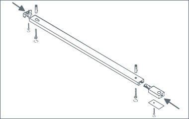 Étape 2. Fixez le système de rail au plafond